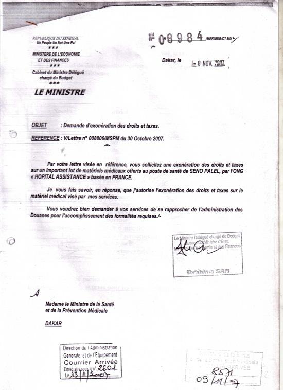 Don De Materiels Medicaux Pour Lassociation Pour Le Developpement De Seno Palel
